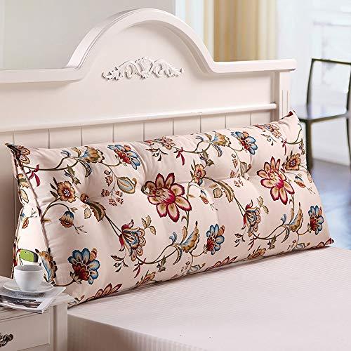 Goldenla driehoekig kussen bed kussens sofa-lange kussens klok televisiebank decoratie (kleur: W, grootte: 150x22x50cm)