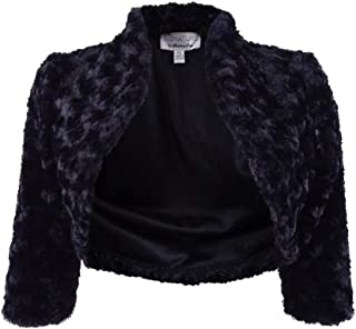 d15440013bce9 Signature by Robbie Bee Womens Petites Faux Fur Elbow Sleeves Bolero, Shrug