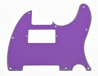 KAISH 8 Hole Tele Guitar Humbucker Pick Guard for USA/Mexican Fender Telecaster Purple 3 Ply