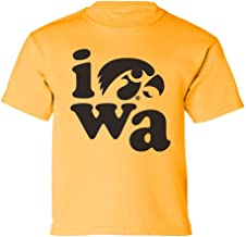 CornBorn Iowa Hawkeyes Youth Tee Shirt - Iowa Stacked