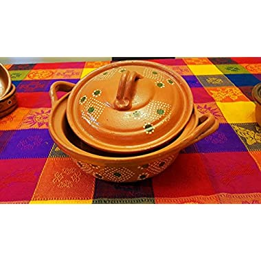 Ancient Cookware Mexican Cazuela - Large - Lidded - Lead Free