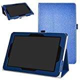 Verizon Ellipsis 10 Case,Mama Mouth PU Leather Folio 2-Folding Stand Cover for 10.1' Verizon Ellipsis 10 Android Tablet,Dark Blue