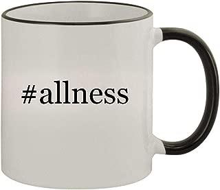 #allness - 11oz Ceramic Colored Rim & Handle Coffee Mug, Black