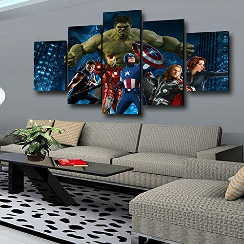 JUCHUNAG 5 gemeinsame Handwerk Malerei HD Wohnzimmer Gang Hauptdekoration Wulian Avengers Wandbild