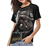 Photo de Kevin Come and Gates T Shirt Women Baseball Round Neck Short Sleeve T-Shirts