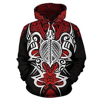 PLstar Cosmos Kanaka Polynesian Tribal Tattoos Turtle 3D Printed Hoodies Pullover Women for Men Streetwear Sweatshirts Turtle-1-4-1,L/XL