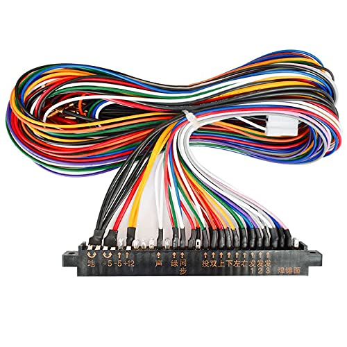 BLEE 1 Unit Arcade Jamma 28/56 Pin Interface Cabinet Wire Wiring Harness Loom Multicade Arcade PCB Cable for Arcade Machine Video Consoles Jamma 60-in-1 Board & Pandora Box 4 5 6