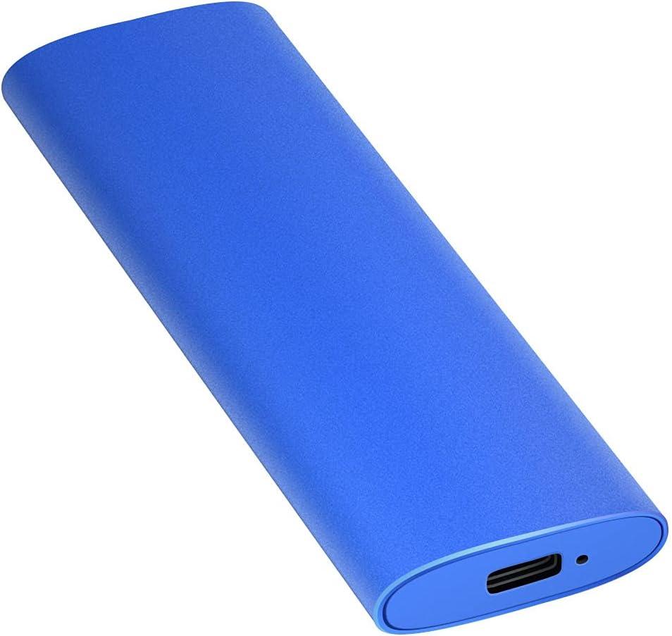 External Hard Drive, Hard Drive 1TB 2TB Portable Slim External Hard Drive Compatible with PC Laptop and Mac(1TB Blue)