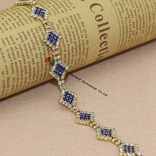 royal blue crystal browband - 1
