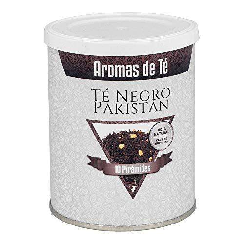 Aromas de Té - Pirámides de Té Negro Pakistan - Contiene Clavo, Canela, Cardámomo, Vainilla, Jengibre y Aromas Naturales - Efecto Digestivo y Antiinflamatorio - Sabor Picante y Fresco - 10 Pirámides