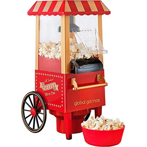 Popcornmaschine für Auto, klassisch, Mini-Maschine, Popcorn, Laubbläser, für Haus, Retro, Popcornmaschine