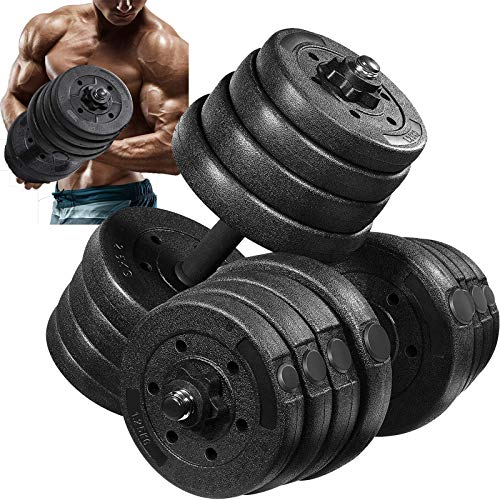 MOVTOTOP Dumbbells Set 2020 Newest Weight Set Solid Adjustable Weight Dumbbells up to 66LBS with Connecting Rod amp AntiSlip Weight Dumbbell Set Strength Training Workout