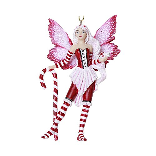 Peppermint Feenfigur Ornament Amy braun Holiday Collection Weihnachtsbaum Aufhängen Ornaments 10,2 cm