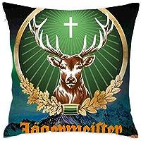 No Jagermeister Fashion Home Decor Cotton Cotton Pillow Fundas para Almohada (60cmx60cm)