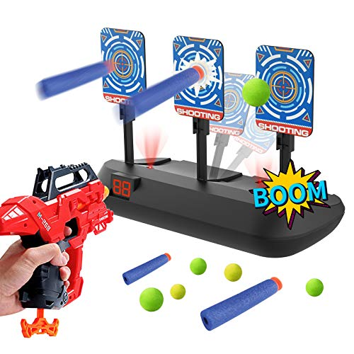 Eseesmart Digital Shooting Target for Nerf Guns Blaster, Electronic Shooting Practice Nerf Target Scoring Auto Reset 3 Target's Foam Dart Toys, for 4,5,6,7,8,9,10+ Years Old Kids Boys Girls