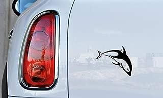 Fish Dolphin Whale Version 3 Car Vinyl Sticker Decal Bumper Sticker for Auto Cars Trucks Windshield Custom Walls Windows Ipad Macbook Laptop Home and More (BLACK)