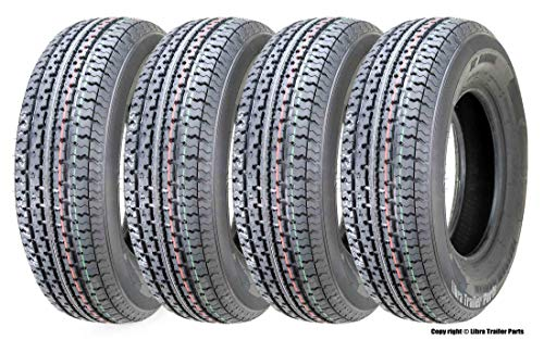 4 New Premium Freedom Hauler Trailer Tires ST 215/75R14 8PR Load Range D Steel Belted Radial