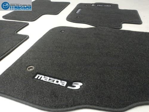 MAZDA 3 2010-2013 NEW OEM CHARCOAL MATS FOUR GRAY FLOOR SET New products world's highest quality popular OF Max 41% OFF