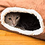 Cat Tunnel, Interactive Play Toy with Crinkle Sound, Fun for Hiding or Zooming in and Out, 100% Pet Friendly, Foldable, Collapsible, Easy to Clean Brown