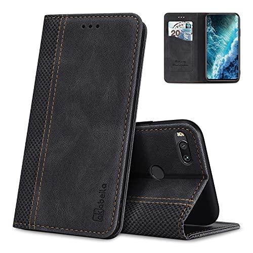 AKABEILA Hülle für Xiaomi Mi 5X / Mi A1 Handyhülle Leder Flip Hülle Ständer PU Brieftasche Schutzhülle Klapphülle Tasche Hülle mit [Kartenfach] [Standfunktion] [Magnetisch]
