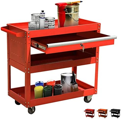 Big Tool Fashion Cart High Super popular specialty store 3-Tier Capacity Rolling