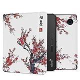 kwmobile Klapphülle kompatibel mit Tolino Vision 5 - Hülle eReader - Chinesische Malerei Blüten Rot Schwarz Weiß
