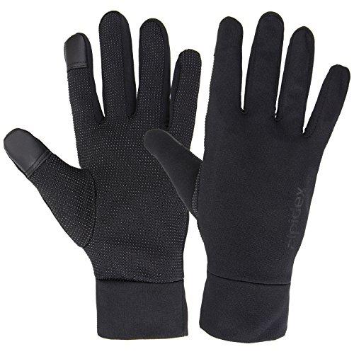 ALPIDEX Leichte Sporthandschuhe Laufhandschuhe WÅRM ÅP Running Handschuhe Unisex Sport Handschuhe Nordic Walking Handschuhe für Damen und Herren mit Touchscreen-Funktion, Größe:L, Farbe:Black