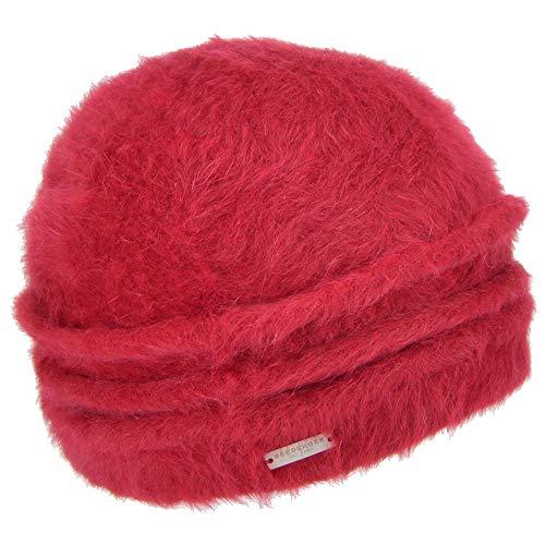 Seeberger Sombrero de mujer Cloche Beanie Angora   Walkbeanie Floppy Shanin   Talla única   Otoño/Invierno rojo Talla única