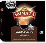 Saimaza Café Espresso Extra Fuerte Intensidad 11 - 20 Cápsulas de café de aluminio compatibles con Nespresso® *