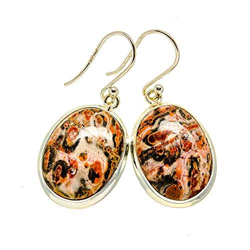 Ana Silver Co Poppy Jasper Earrings 1 1/2' (925 Sterling Silver)