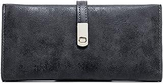 GUMAOPAJIAAAqb Monederos de Mujer, Wallet Women Phone Bag Female Matte Leather Long Womens Wallets and Purses Magnet Hasp ...