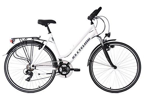 KS Cycling Trekkingrad Damen Alu-Rahmen 28'' Metropolis weiß RH48cm Multipositionslenker