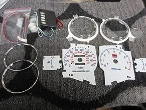 95 96 97 98 99 Mitsubishi Eclipse Non Turbo Automatic Manual Transmission 7 Color White Face Glow Gauges Dash Light Kit -8K RPM