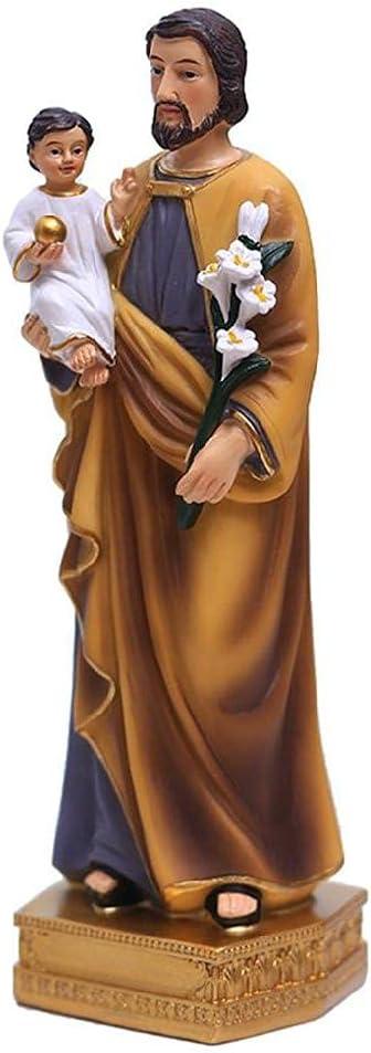San José sosteniendo la Estatua del bebé Jesús figuritas religiosas Modelo de Resina estatuas de Escultura figuritas religiosas