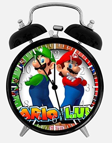 Alarm Clock Super Mario Luigi W90 Wecker mit Zwei Glocken, 10,2 cm, für Zuhause, Büro, Dekoration