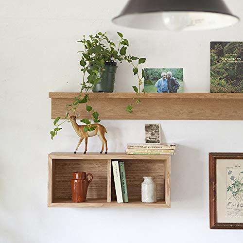 こちらも幅44㎝の箱型の家具です。二つに仕切りが付いているから、小さな物を入れるのに向いています。(写真下:箱、写真上:棚)