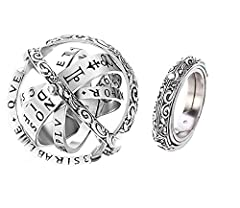 The combination is a delicate ring, unfolding is an astronomical ball, the temptation of the fingertips hiding the entire universe.As the different bands are fanned out, the rings take on a unique quality.Please note thatThe photos we provide are rea...