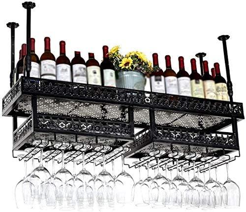 para Bodega 50 x 32 x 100 cm Comedor VASAGLE Estanter/ía de Vino para 20 Botellas Cocina Estilo Industrial Botellero con Soporte de Vidrio Marr/ón R/ústico y Negro LWR020B01