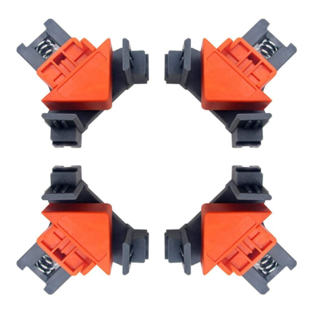 90° Corner Right Angle Clamps, Aluminum Alloy Woodworking Corner Clip Fixer for Carpenter Engineering Photo Framing