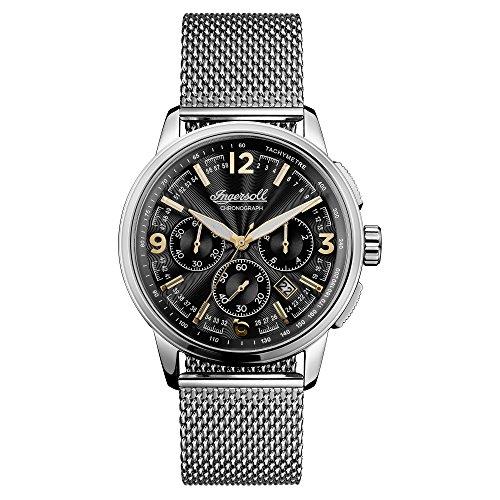Ingersoll Herren Chronograph Quarz Uhr mit Edelstahl Armband I00103