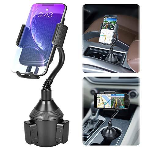 Handy Autohalterung, geeignet für KFZ-Getränkehalter Cup Mount für 360 Grad Drehung Autotassenhalter für iPhone11 Pro, Xs Max, XR, X, 8, 7, Samsung S10 S9 S8 S7,Huawei,LG andere Smartphone (Schwarz)