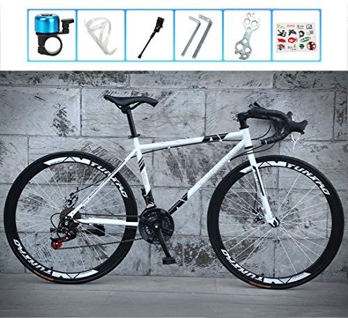 LCAZR 28 Zoll Mountainbike, Cyclocross Fahrrad, Rahmen aus Kohlenstoffstahl, Großer Reifen Vollfederung Mountain Bike,Cross Rennrad für Damen und Herren/D
