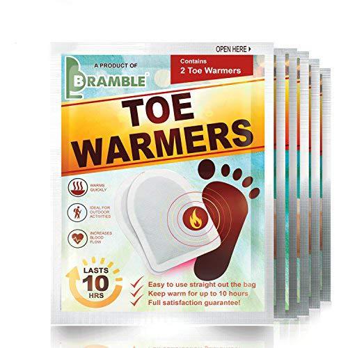 BRAMBLE! 12 Pares Premium Calentadores de Pies - Toe Warmers Adhesivos | 8-10 Horas de Calor Calmante | Calor Instantáneo, Ambientalmente Seguro, Activado por Aire - Oxidación 100{9d2a314a224ba0d864c313661807f924f4612f37883e7eea4dfac80b90ec9da7} Natural