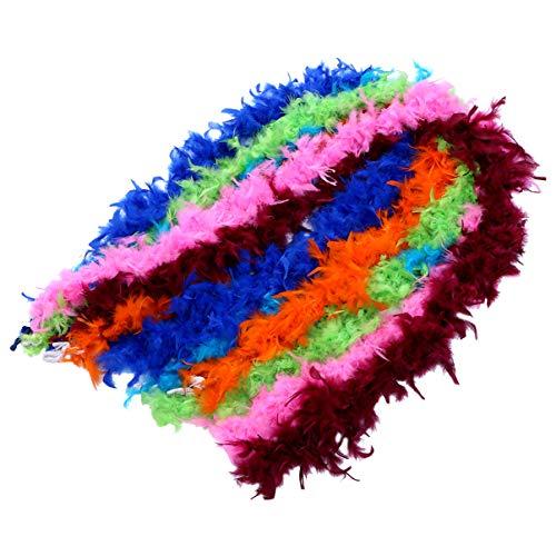 HEALLILY Boas de plumas de colores boa de plumas de arco iris material de bricolaje adornos de...
