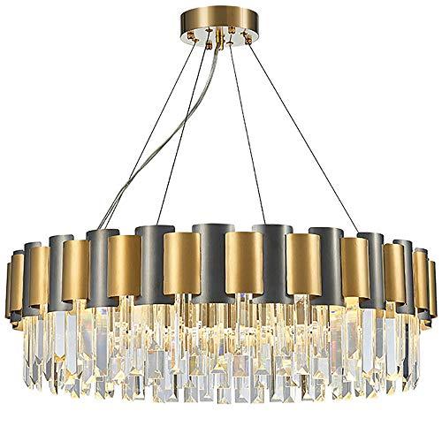 LED Moderne Kristall-Kronleuchter Kupfer Spiegel Lavalampe, K9crystals Kronleuchter Deckenleuchten Genügsamkeit Esszimmer Schlafzimmer, Postmodern Licht Luxus-Kronleuchter, Gold,Gold,XXXL
