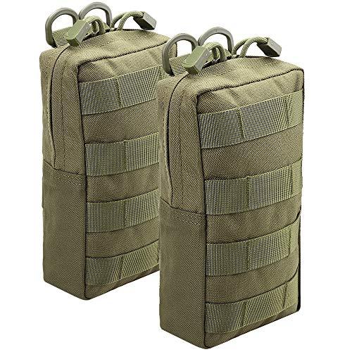 Magarrow Tactical Molle Pouch Taille Hängetasche, Zubehör Halter, Green- 2pcs