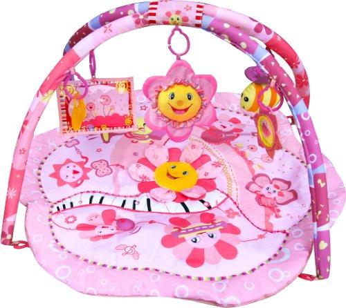 Inside Out Toys - Palestrina tappetino per neonato, con elementi musicali, design a fiori, colore rosa