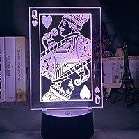 3DイリュージョンランプLEDナイトライトハートの女王大人のための色の変更ファンの寝室の装飾フレディマーキュリーギフト子供用スリープランプ