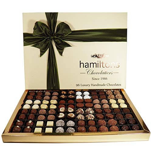 Hamiltons The Ultimate Premium Luxury 96 Handmade Chocolates Gift Box