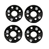 ZY WHEEL 4PCS Hubcentric Wheel Spacers 1' (25mm) 4x100 to 4x100 4Lug 56.1mm Bore with 12x1.5 Studs for Acura Integra Honda Civic Fit Insight (Black)